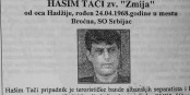 Wanted ; Hashim Thaçi, 1997  Foto: SMIA/Wikimédia Commons/CC-BY-SA/4.0Int