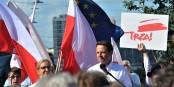 """"""" Trza """", l'opposant et candidat centriste, le 5 juillet à Katowice  Foto: Sila/Wikimédia Commons/ CC-BY-SA/4.0Int"""