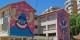 Fresques militantes et ludiques, sur les murs d'une école élémentaire de Málaga. Foto:  Daniel Capilla / Wikimedia Commons / CC-BY-SA 4.0int
