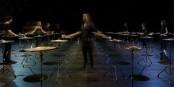 Festival MUSICA, 100 Becken erklingen zum Auftakt des Straßburger Festivals für neue und allerneuste Musik. Foto: MUSICA