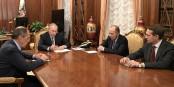 Une belle brochette : le ministre des Affaires étrangères, Sergueï Lavrov, Vladimir Poutine, Alexandre Bortnikov et Sergueï Narychkine  Foto: Serv.Presse Pdt Russie/Wikimédia Commons/CC-BY-SA/4.0Int