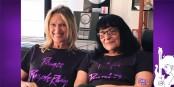 """Fabienne Isaac-Spisser et Michelle Ruffenach, les instigatrices de """"Prince, un purple règne""""... Foto: (c) David Gros-Jean"""