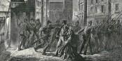 Nächtliche Ausgangssperre in Frankreich im Jahr 1870... Foto: Frédéric Lix & Amédée Daudenarde / Wikimedia Commons /  PD