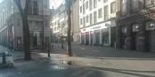"""Morgenstimmung in einer ausgestorbenen Stadt. Der """"Lockdown 2.0"""" hat begonnen... Foto: Eurojournalist(e) / CC-BY-SA 4.0int"""
