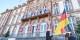 Vor dem Strassburger Hôtel de Ville wird die deutsche Fahne für die kommenden sechs Monate gehisst. Foto: (c) Council of Europe / European Union 2020