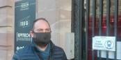 """Yannick Garzennec, patron du """"Muensterstuewel"""", est venu dans nos bureaux pour une interview. Foto: Eurojournalist(e)"""
