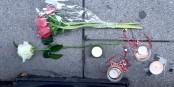 Bougies, petits objets et fleurs - expression de la mémoire des 5 victimes de l'attentat à Strasbourg le 11 Décembre 2018. Foto: (c) Nicolas Rosès 2020