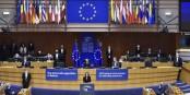 Sviatlana Tsikhanouskaya devant le Parlement Européenj - à Bruxelles... Foto: (c) European Union / Europa 2020