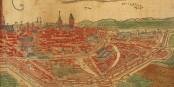 So sah der Kartograph Sebastian Münster das mittelalterliche Strassburg... Foto: Sebastian Münster / Wikimedia Commons / PD