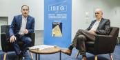 Un entretien-vidéo entre deux passionnés de leur métiers respectifs... Foto: Ludovic Tahon / ISEG