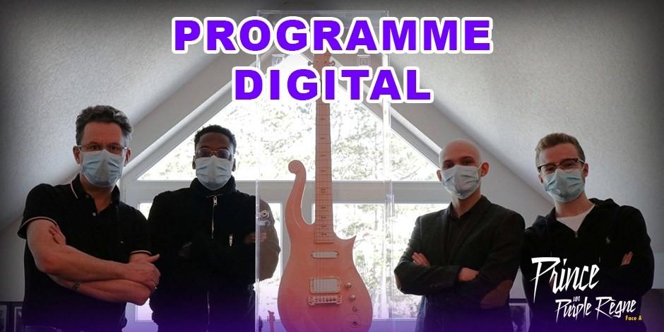 """Les étudiants de l'ISEG et toute l'équipe de """"Prince, un Purple Règne"""", présentent le programme numérique ! Foto: David Gros-Jean"""