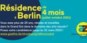 C'est le moment pour se lancer et pour candidater pour cette résidence artistique à Berlin ! Foto: (c) Institut Goethe