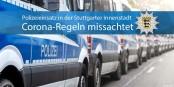 De plus en plus souvent, des lunatics défient la police - mais personne n'a besoin de ces incidents. Foto: Police Stuttgart / Twitter