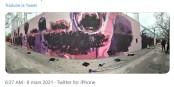 Photo du tweet de Rita Maestre, publié le 8 mars 2021, montrant la fresque vandalisée. Foto: Tweet Rita Maestre