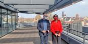 Frédéric Bierry et Fatima Jenn - la CeA devient un acteur incontournable du terrain. Foto: privée