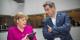 Auch Angela Merkel kann die Zahlen lesen, nach denen Markus Söder in den Umfragen weit vorne liegt. Foto: European People's Party / Wikimedia Commons / CC-BY 2.0