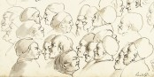 """Querdenker"", die darüber diskutieren, dass ""Merkel weg muss""... Foto: Gaetano Gandolfi / Rijksmuseum / Wikimedia Commons / PD"