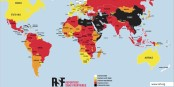Dans un monde idéal, tous les pays seraient représentés en blanc... Foto: Reporters sans Frontières / rsf.org