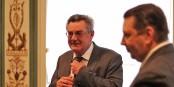 Le Consul Général de la Russie Yury Soloviev, en compagnie de Vadim Gusakov (Kampus 5). Foto: Ludovic Tahon