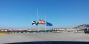 Le moral des Espagnole(e)s est en berne, comme le drapeau du pays lors du au crash du vol 9525 de Germanwings. Foto:  Xemenendura / Wikimedia  Commons / CC-BY-SA 3.0