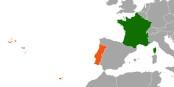 France – Portugal, deux pays séparés par l'Espagne, mais réunis par le frantugês ! Foto:  NordNordWest / Wikimedia Commons / CC-BY-SA 3.0