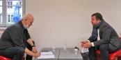 Mathieu Cahn a répondu aux questions d'Eurojournalist(e). Photo: Lyacine Boulakhras / EJ