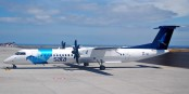 Un Dash 8-Q400 de SATA Air Açores, assurant des liaisons régulières inter-îles. Foto:  Icarus / Wikimedia Commons / CC-BY-SA 2.0