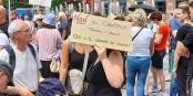 Noch sind die Proteste friedlich. Noch. Foto: Eurojournalist(e)