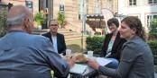 """Interview mit den """"Drei von der Tank-... äh... der Geschäftsstelle""""! Foto: Adrien Ruffier / EJ"""