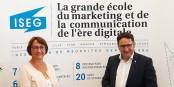 Françoise Bey et Tobias Gotthardt lors de leur rencontre à l'ISEG Strasbourg. Foto: Eurojournalist(e)