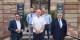 Vincent Sirot, Adrien Ruffier (oben, beide ISEG), Tobias Gotthardt, EJ-Chefredakteur Kai Littmann und Patrick Hetzel. Foto: Umut Sevinc / ISEG