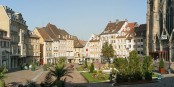 In Mulhouse herrschen heute wieder andere sanitäre Vorgaben als in Colmar oder Strasbourg. So wird das nichts... Foto: PanoMulh, Inkey / Wikimedia Commons / CC-BY-SA 3.0