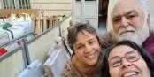 Céline Anaya Gautier en compagnie de Véronique et Jean-Marc, du Gîte d'Étape Pèlerin « Le Champ d'Étoiles » situé à Condom. Foto: Céline Anaya Gautier