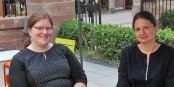 Iris Burr und Andrea Klinder - jede Menge juristische Fachkompetenz. Foto: Eurojournalist(e)