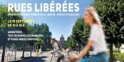 """Verkehrsberuhigung kann auch ein Fest sein - wie die """"befreiten Strassen"""" am Sonntag in Strasbourg! Foto: Stadt Strasbourg / strasbourg.eu"""
