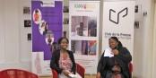 Les organisatrices du 2e Sommet de la Diaspora Africaine lors de la conférence de presse de présentation. Foto: Eurojournalist(e)