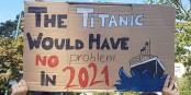"""Da hat """"Fridays for Future"""" recht - 2021 hätte die Titanic kaum eine Chance, einen Eisberg zu rammen... Foto: Mænsard vokser / Wikimedia Commons / CC-BY-SA 4.0int"""