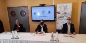 Véronique Siegel (UMIH), Fatima Jenn (CeA) et Claude Rouillon (Pôle Emploi) lors de la signature de la convention qui lance la nouvelle plate-forme. Foto: Eurojournalist(e)